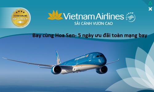 Bay quốc tế khứ hồi chỉ với 112 USD cùng Vietnam Airlines