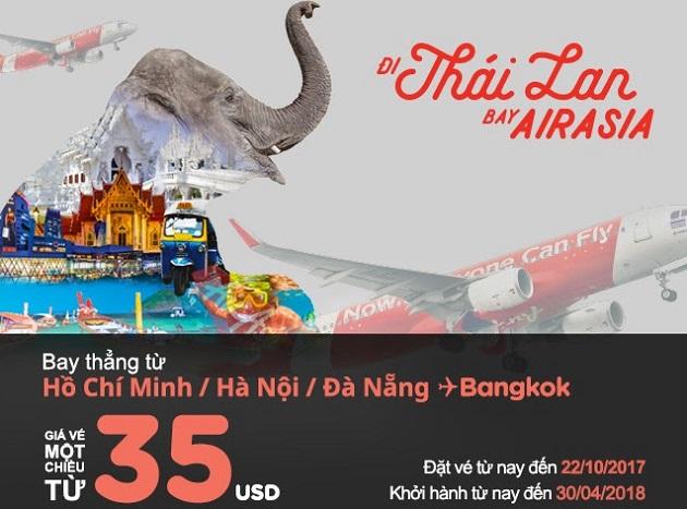 Trải nghiệm niềm vui bất tận cùng Air Asia chỉ với 35 USD