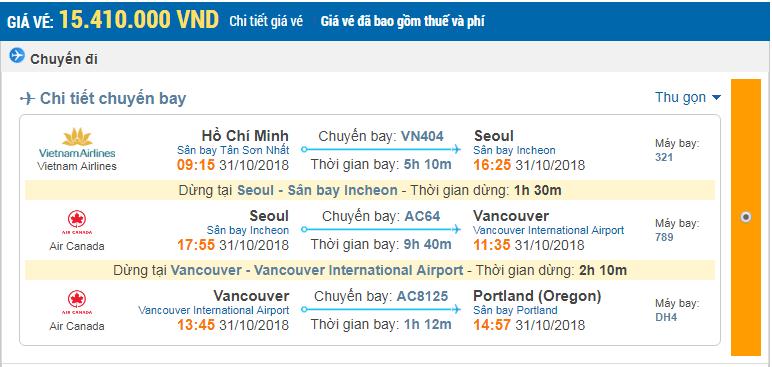 Giá vé 1 chiều hãng Vietnam Airlines
