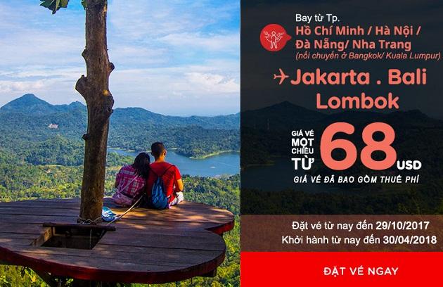 Vé 68 USD dành cho Indonesia kỳ thú