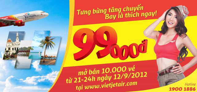 Ve may bay Vietjetair gia re