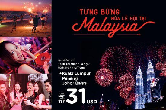 Tận hưởng kỳ nghỉ trong mơ cùng Air Asia với giá vé 31 USD