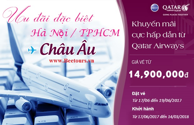 Qatar Airways khuyến mại vé rẻ liên tục trong 3 ngày