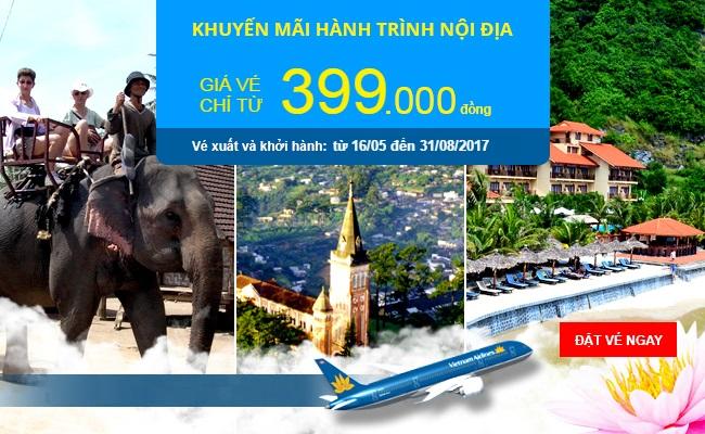 Cơ hội sở hữu vé máy bay giá chỉ từ 399.000đ của Vietnam Airlines